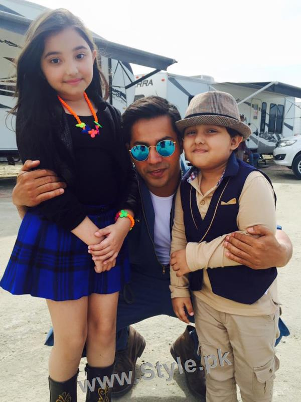 Javeria Saud's kids with Varun Dhawan and John Ibrahim (6)