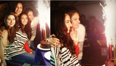 Ushna Shah Celebrating Her Birthday.