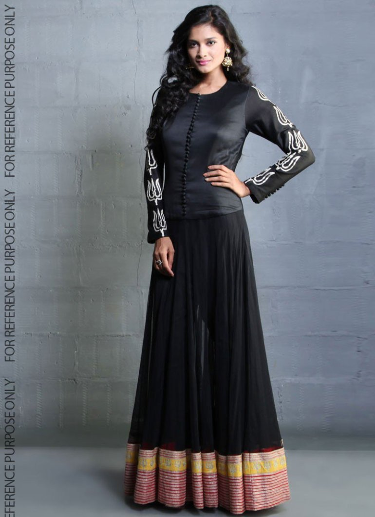 Black party wear dresses for girls