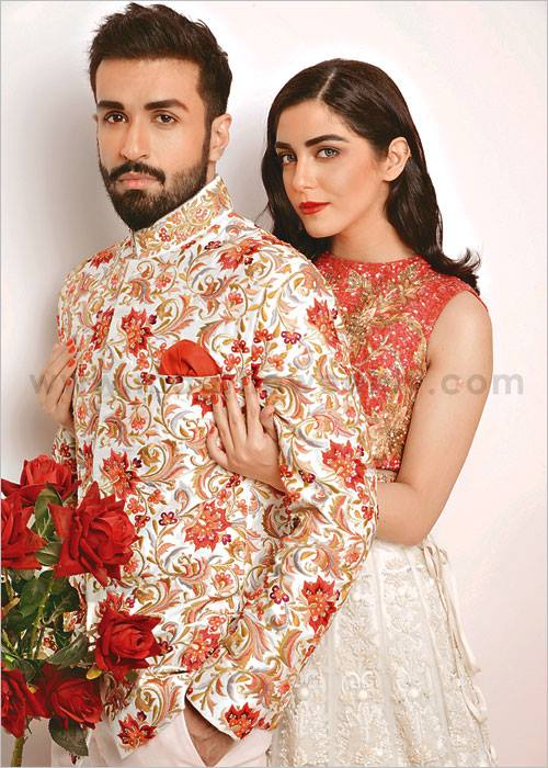 photoshoot of maya ali and azfar rehman