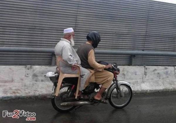 uncle on motorbike