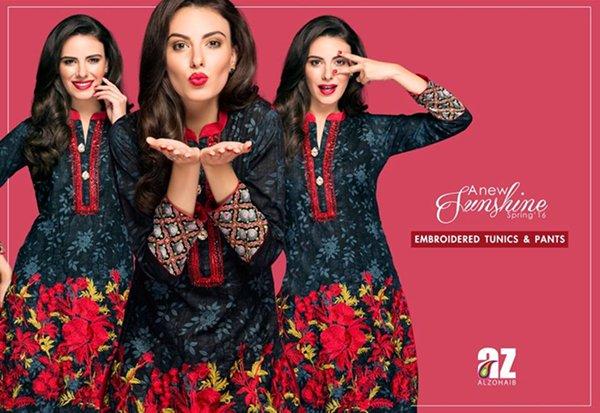 Al Zohaib Textile Spring Dresses 2016 For Women0012