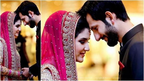 Anoushey Abbasi and Ainan wedding