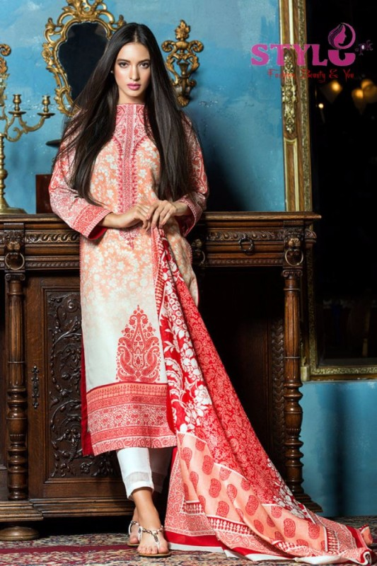 Gul Ahmed's Embroidered Lawn collection 2016