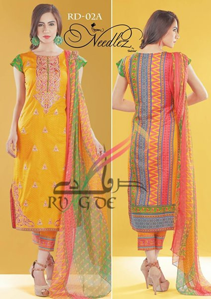 Needlez By Shalimar Lawn Dresses 2016 For Women0010