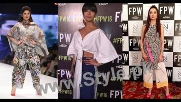 See Looks of Pakistani Celebrities at FLooks of Pakistani Celebrities at FPW'16 Day 1PW'16 Day 1