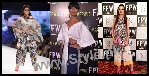 See Looks of Pakistani Celebrities at FLooks of Pakistani Celebrities at FPW'16 Day 1PW'16 Day 1