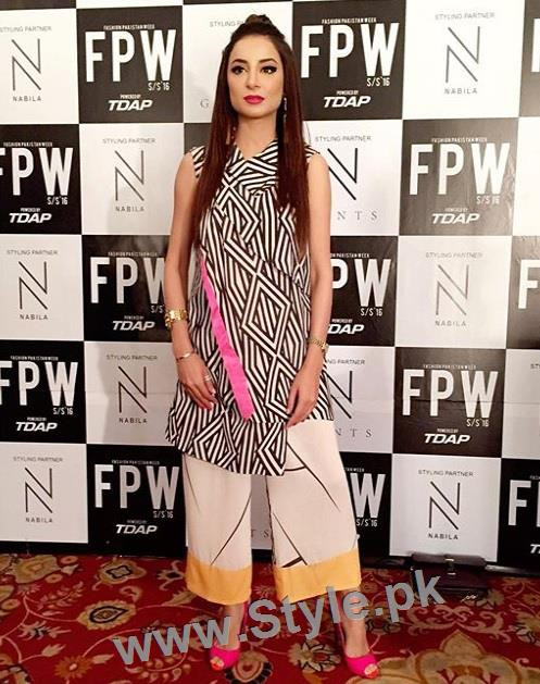 Looks of Pakistani Celebrities at FPW'16 Day 1 (15)