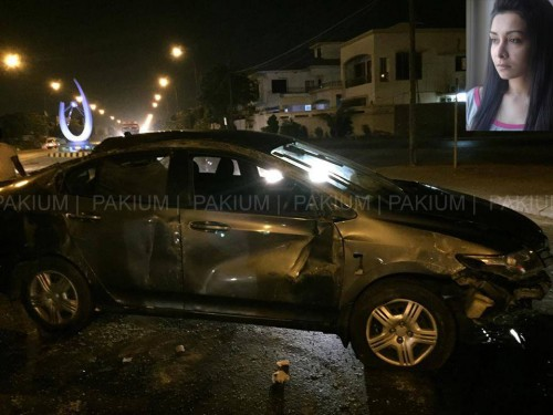 Maira Khan Car Accident
