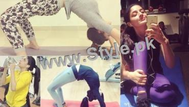 See Mawra Hocane works hard in Gym