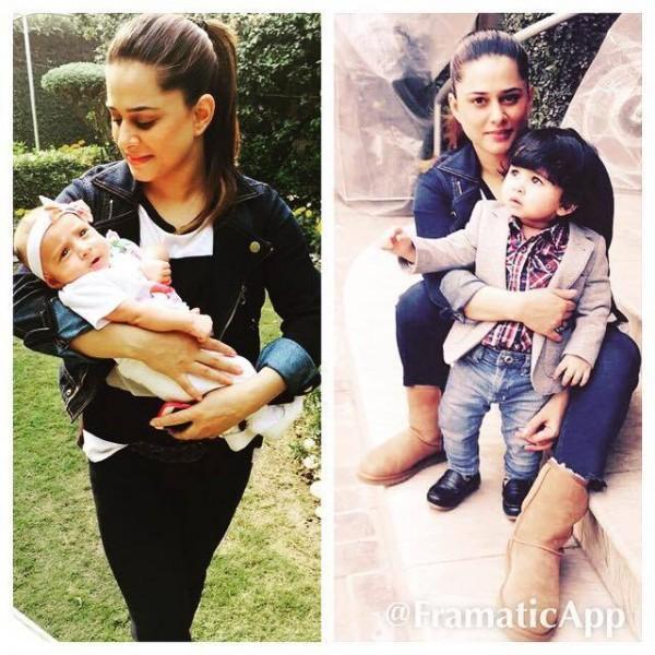 Mehreen Raheel daughter and son