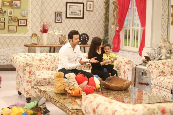Nausheen and Ahmad with their son