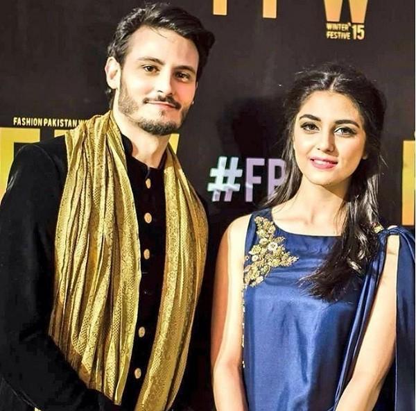 Osman Khalid Butt and Maya Ali