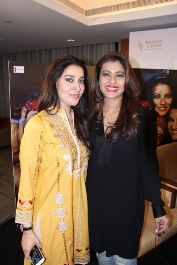 Shaista Lodhi with Kajol