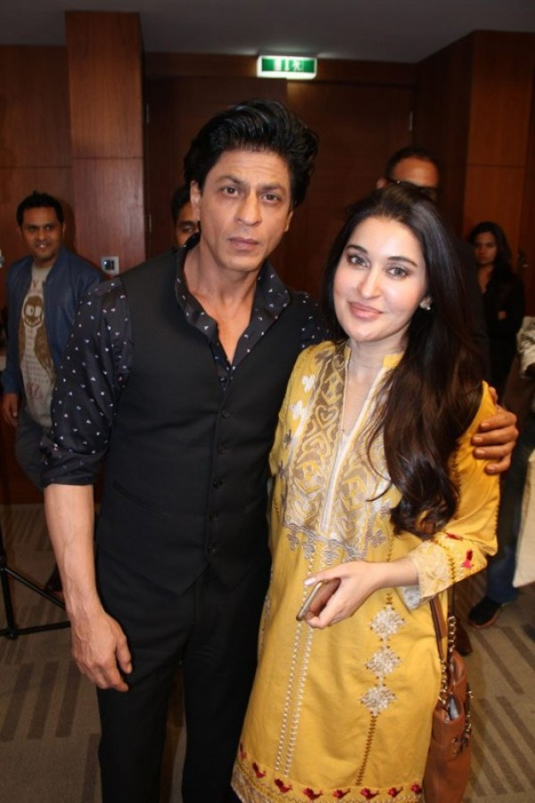 Shaista Lodhi with Shah Rukh Khan