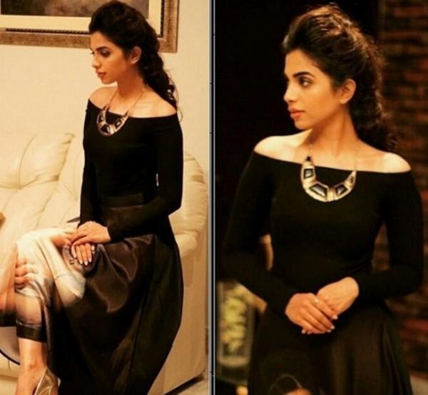 Sonya Hussain In Strapless Dress