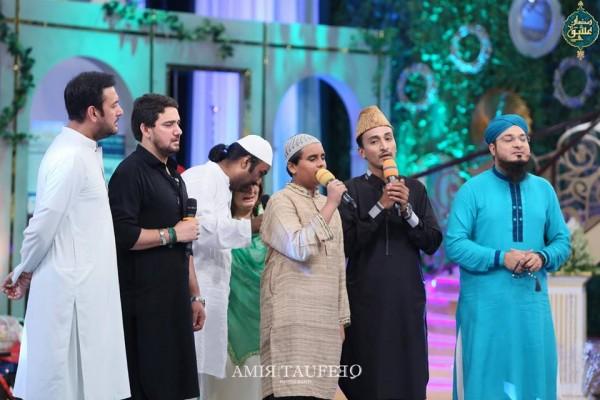 Amjad Sabi's son in Ramzan Transmission (6)