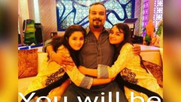 See Amjad Sabri (Late) with his kids