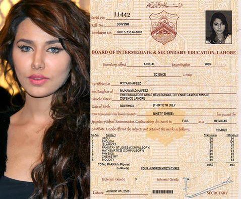 See Ayyan Ali's intermediate Certificate