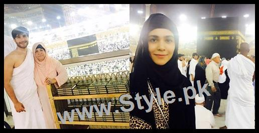 See Humaima Malick and Feroze Khan performed Umrah Today