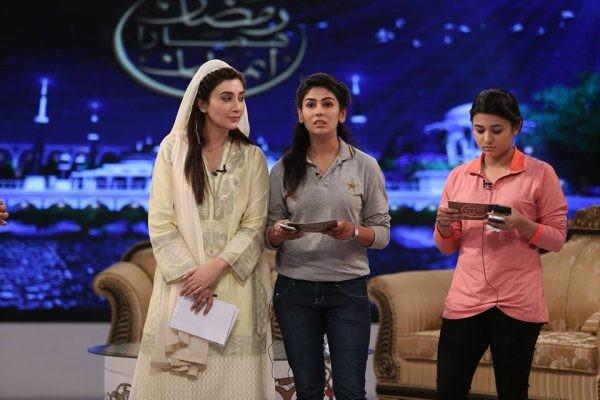 Pakistan Women Cricket Team in Ramzan Transmission (6)