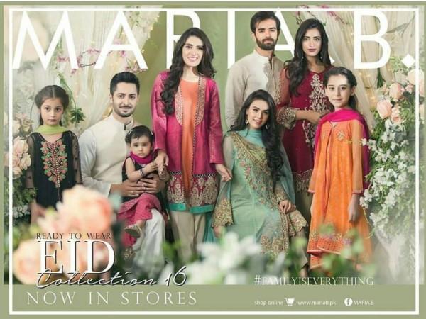 See Taimoor Family's photoshoot for Maria.B