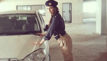 Ushna Shah police