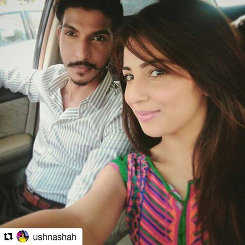 Ushnah Shah and Mohsin Abbas together for Jhoot Wala Love (4)