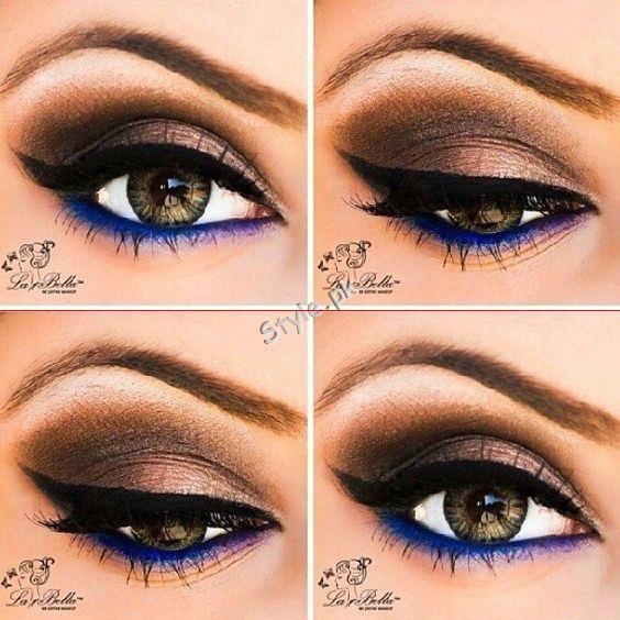 Blue Eyeliner Makeup Ideas easy