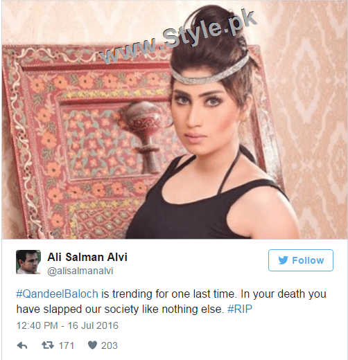 Pakistanis are shocked at Qandeel Baloch's murder (4)
