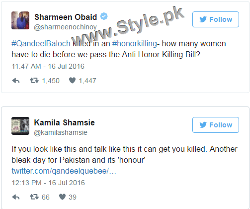 Pakistanis are shocked at Qandeel Baloch's murder (5)