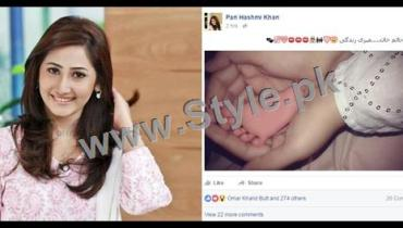 See Pari Hashmi shared a picture of her newly born son on Social Media