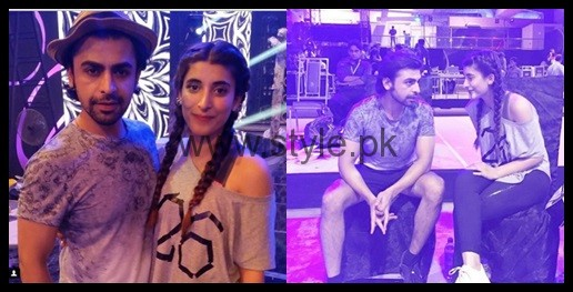 See Urwa Hocane and Farhan Saeed during rehearsals of LSA 2016