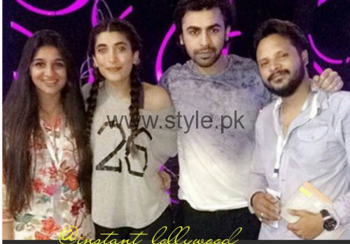 Urwa Hocane and Farhan Saeed during rehearsals of LSA 2016 (2)