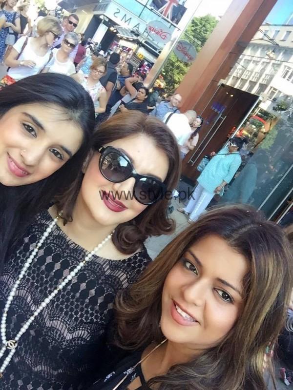 See Ayesha Sana and Maria Wasti enjoying in London