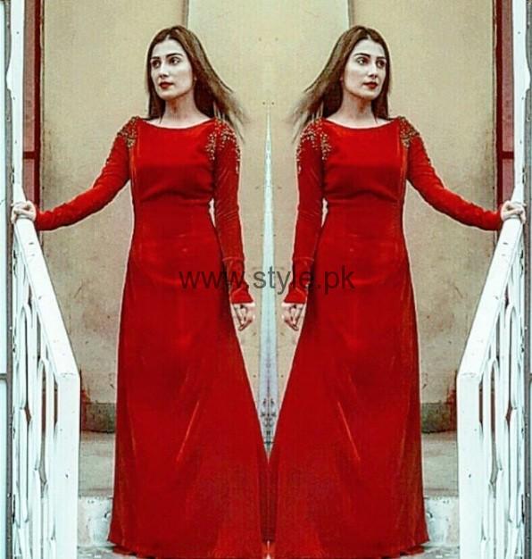 Ayeza Khan Stuns In Red