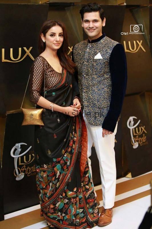 Beautiful Couple Sarwat Gilani and Fahad Mirza at LSA 2016 (3)