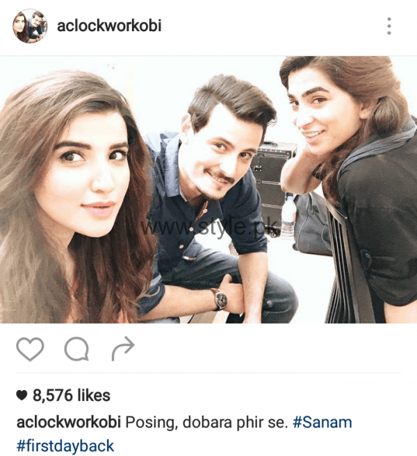 Cast of Diyar-e-Dil is reunited for drama Serial 'Sanam' (6)