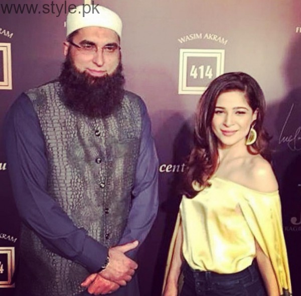 Junaid Jamshed With Ayesha Omer