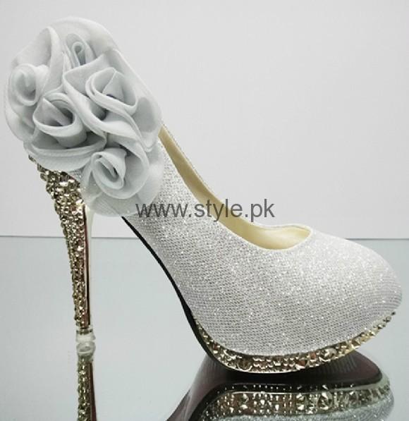 Latest Bridal Silver High Heels 2016  (3)
