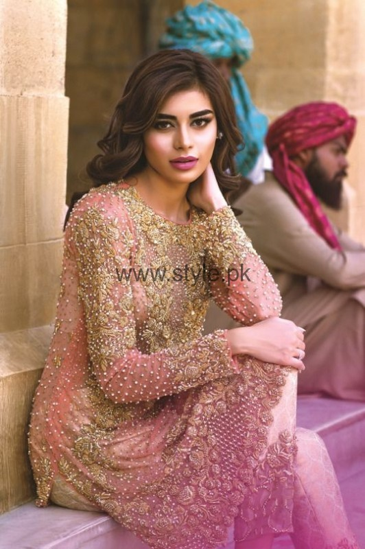 Latest Embroidered dresses 2016 for Newly Married girls (11)