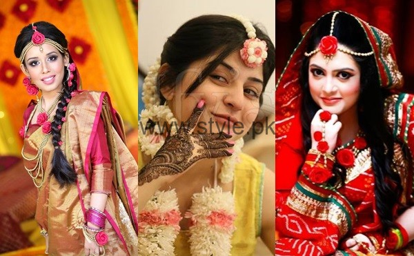 See Latest Fresh Flowers Jewelry for Mehndi 2016