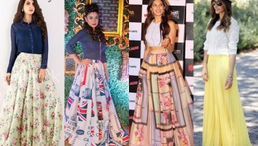 See Latest Pakistani Skirts