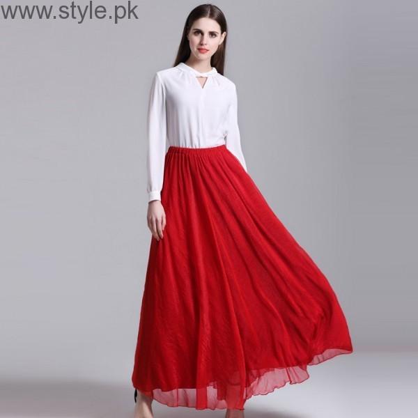 Latest Pakistani Skirts