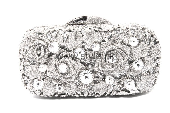 Latest Silver Bridal Clutches 2016 (7)