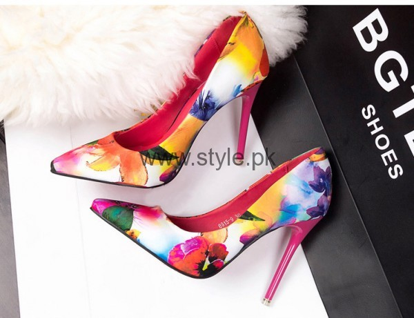 Latest Summers Floral Heels 2016 (9)