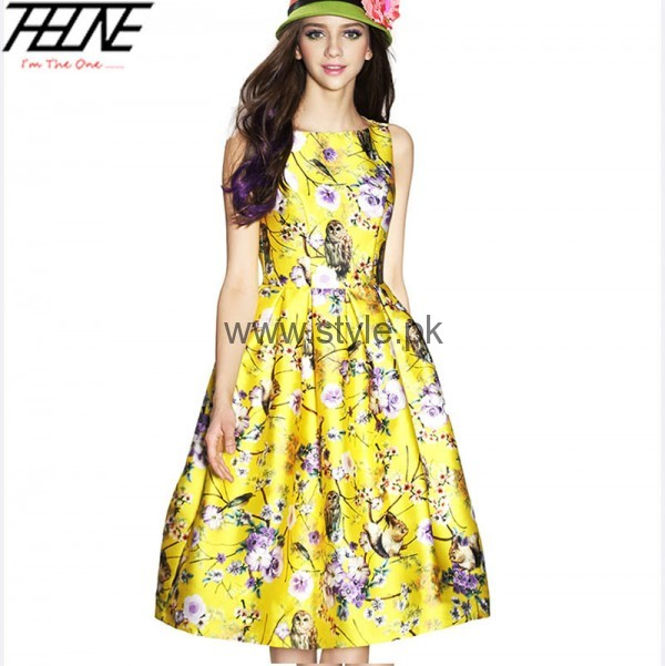 Latest Summers Floral dresses 2016 (2)