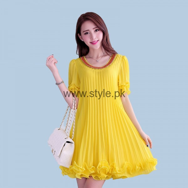 Latest Yellow summers tops for Women 2016 (1)
