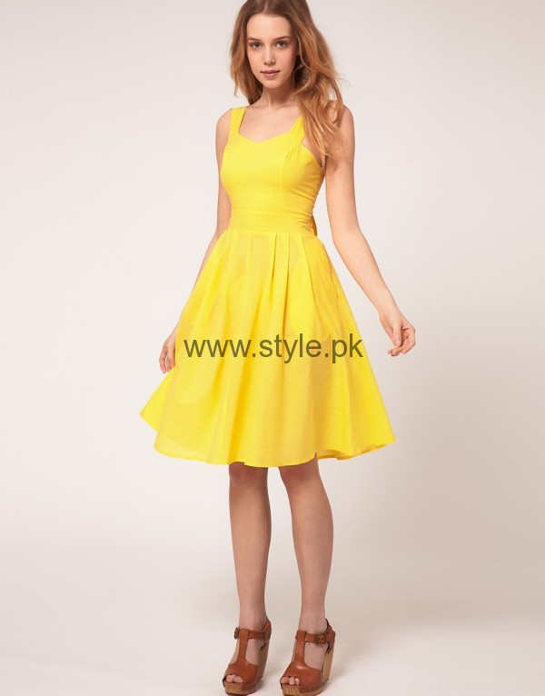 See Latest Yellow summers tops for Women 2016
