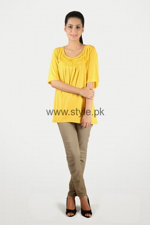 Latest Yellow summers tops for Women 2016 (12)